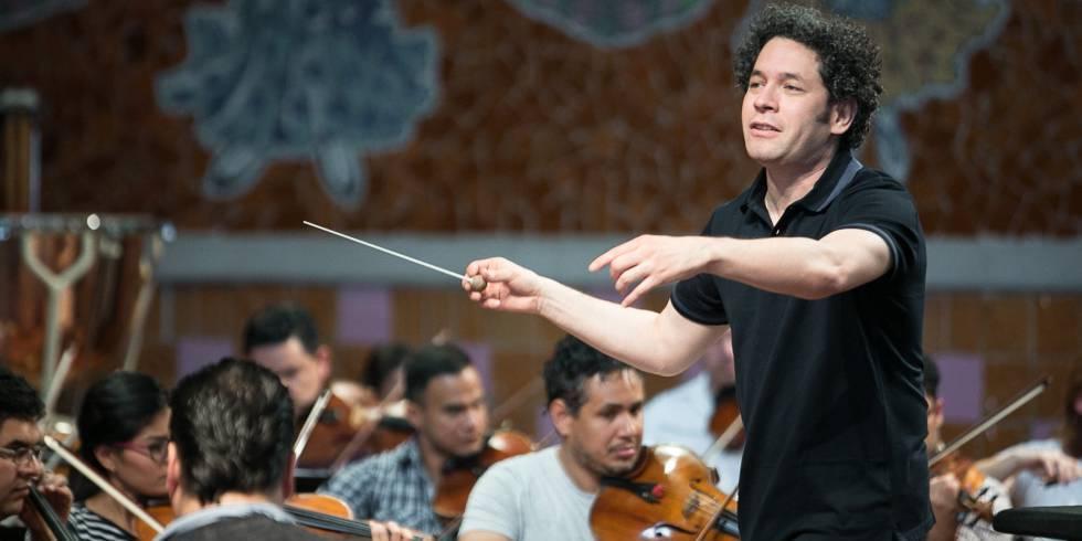 Imagen de Dudamel con la 9º de Beethoven en el Auditorio Nacional de Madrid