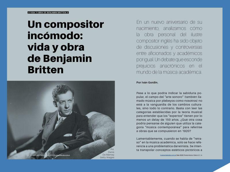 Vida y obra de Benjamin Britten