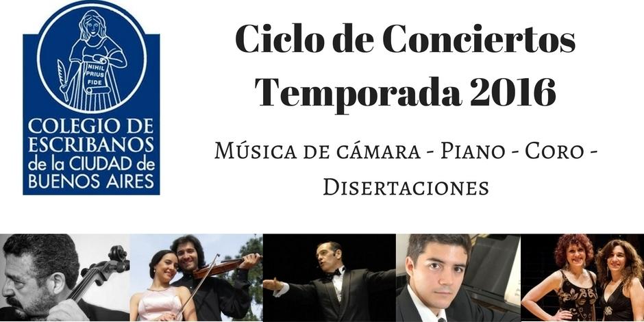 Imagen de Ciclo de Conciertos del Colegio de Escribanos