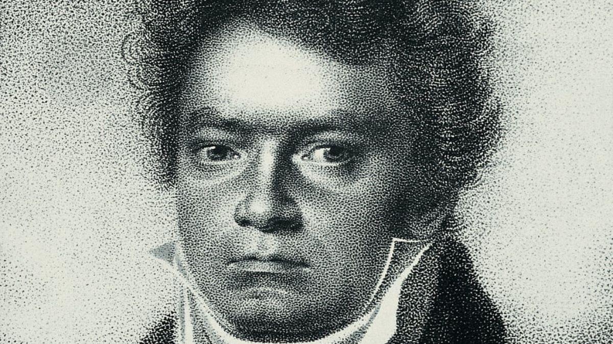 Aguafuerte de 1814 de Ludwig van Beethoven por Blasius Hoefel, según un dibujo de Louis Letronne. Fotografía: Imagen / Getty Images.