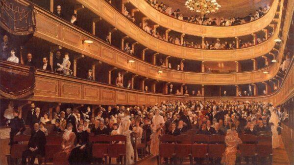 """El antiguo Burgtheater"" de Gustav Klimt"