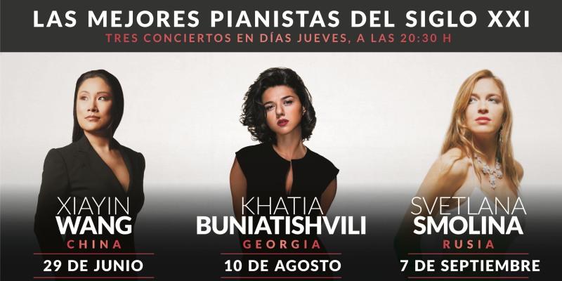 Imagen de Tres pianistas sensacionales en Amijai