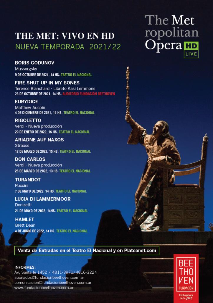 ópera Met temporada 21 - 22